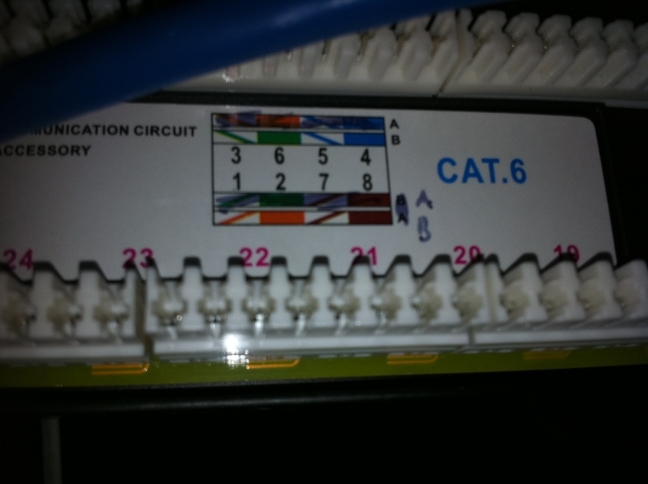 help wiring monoprice cat patch panel h ard forum this is what a single cable punched down should look like