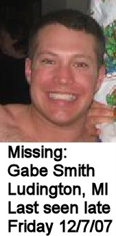 MISSING: Gabe Smith, Ludington, MI